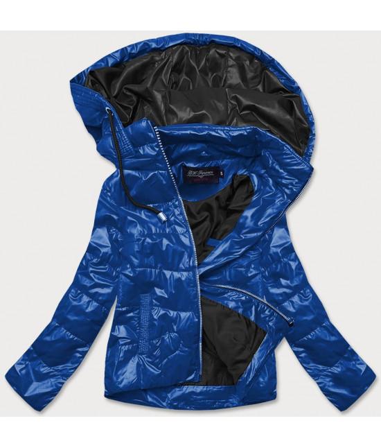 Dámska jarná bunda MODA005 modro-čierna