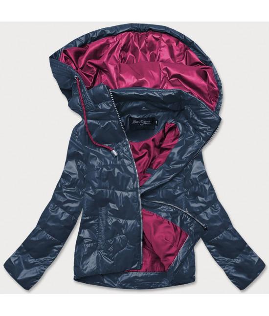 Dámska jarná bunda MODA2005BIG tmavomodrá