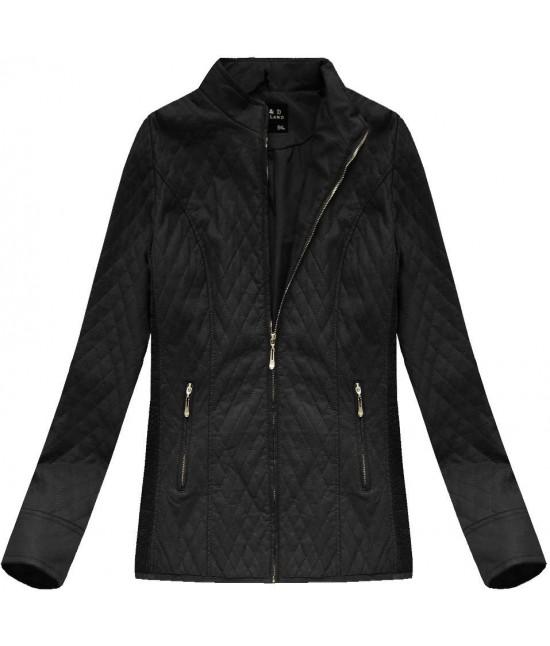 Dámska koženková bunda 5199BIG čierna