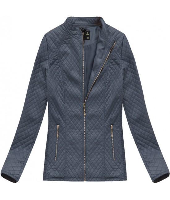Dámska koženková bunda MODA087BIG modrá