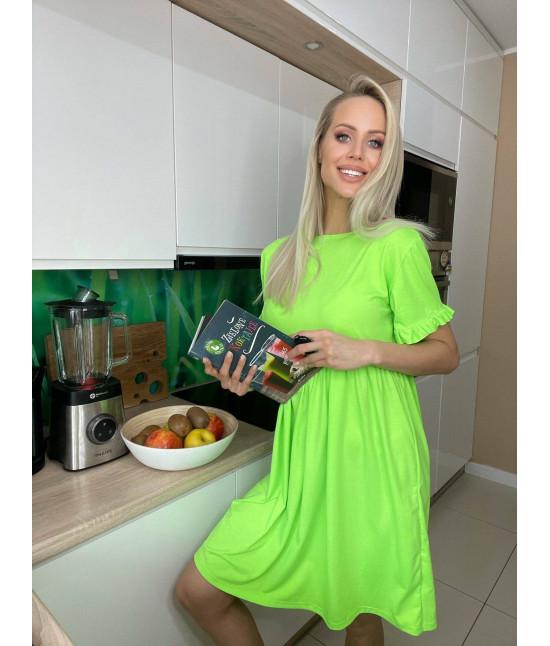 Dámske ľahké letné šaty MODA697 zelené