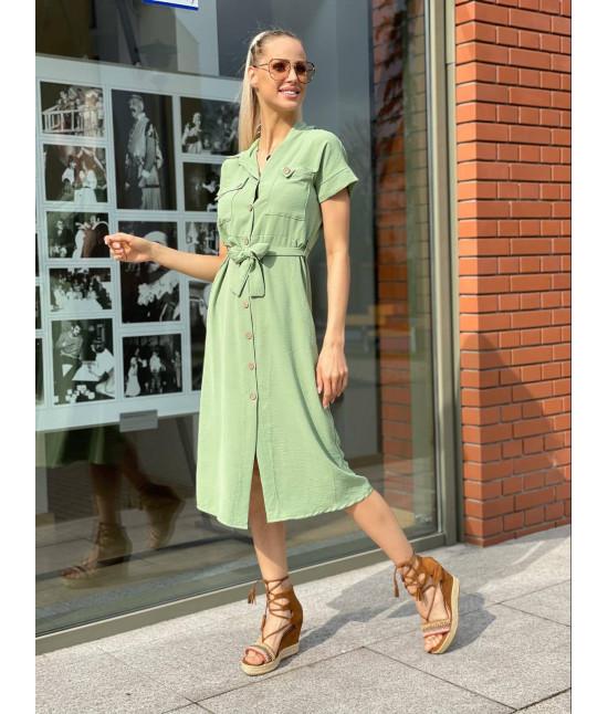 Dámske šaty MODA1059 olivové
