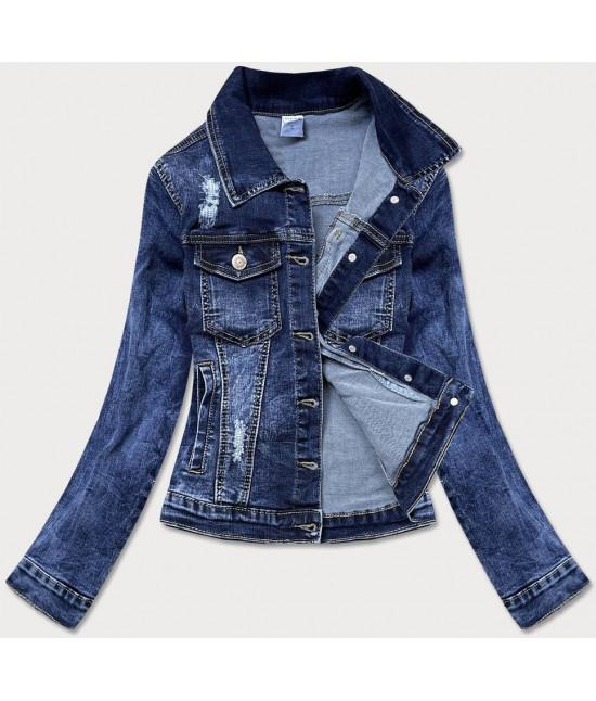 Moderná dámska jeansová bunda MODA6338 modrá