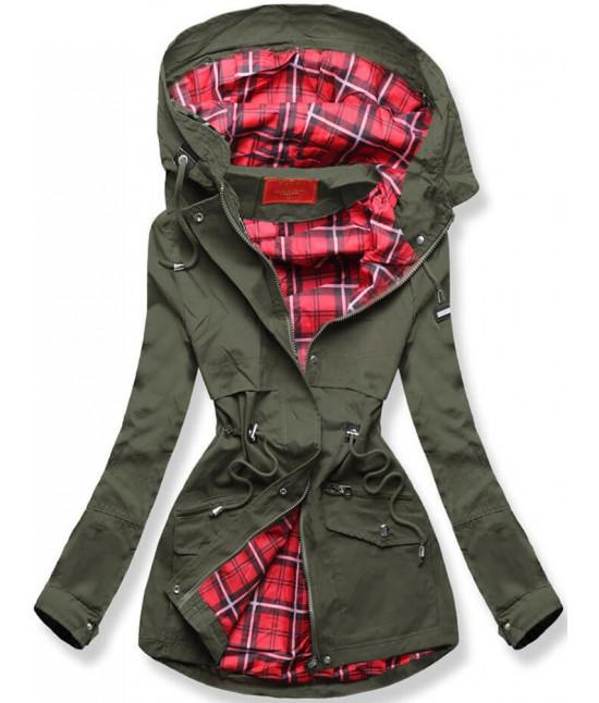 Dámska jarná bunda MODA243 zelená veľkosť M