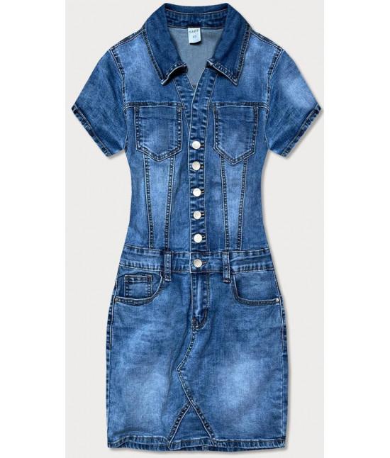 Dámske jeansové šaty MODA602 modré