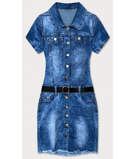 Dámske mini jeansové šaty  MODA6659 modré