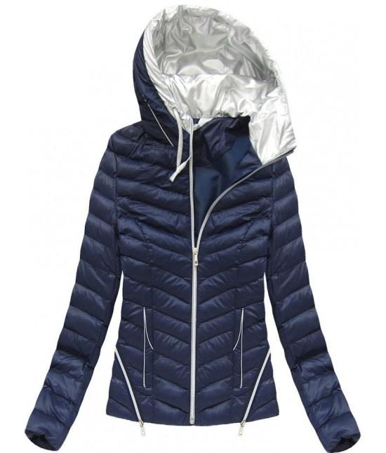 Dámska jarná bunda modrá F101 - Dámske oblečenie  7d512ac0cc7