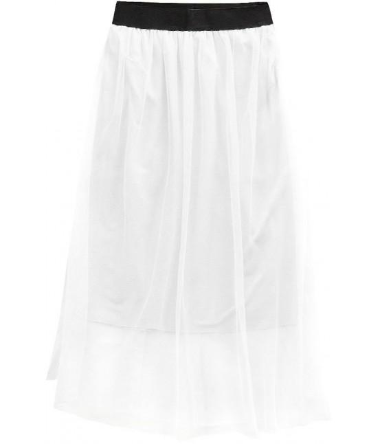Dámska sukňa midi biela MODA96