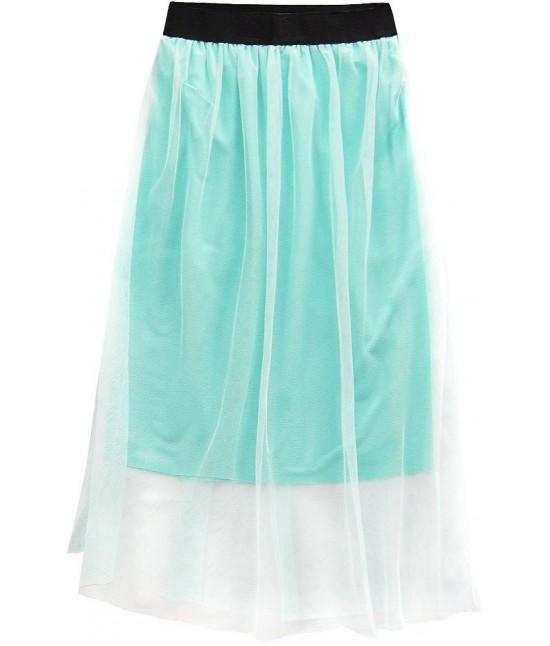 Dámska sukňa midi mätová MODA96