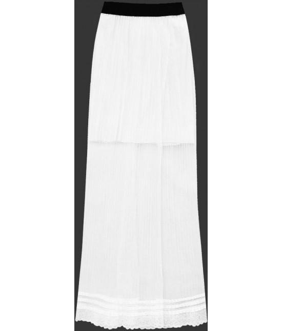 290ae0bcb167 Dámska dlhá maxi sukňa plisovaná biela2 MODA9 - Dámske oblečenie ...