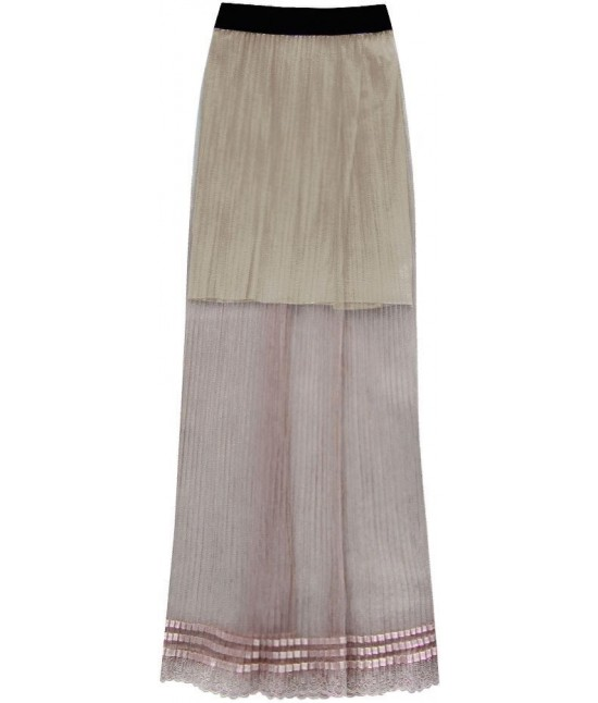 561b80c92582 Dámska dlhá maxi sukňa plisovaná hnedá MODA98 - Dámske oblečenie ...