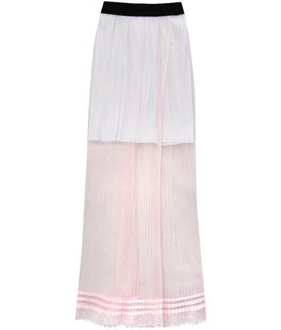 3eed67b25d6f Dámska dlhá maxi sukňa plisovaná ružová MODA98 - Dámske oblečenie ...