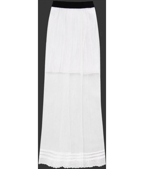 25c7ae3a627f Dámska dlhá maxi sukňa plisovaná biela MODA98 - Dámske oblečenie ...