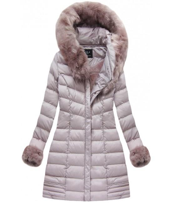 ... Dámska zimná bunda s kožušinou MODA750 staroružová. damska-uimna-bunda -s-kozusinou-moda750-staroruzova ebc50be147d