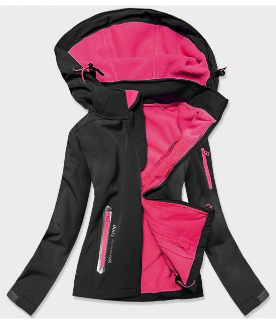 Dámska trekkingová bunda MODA029 čierno-ružová