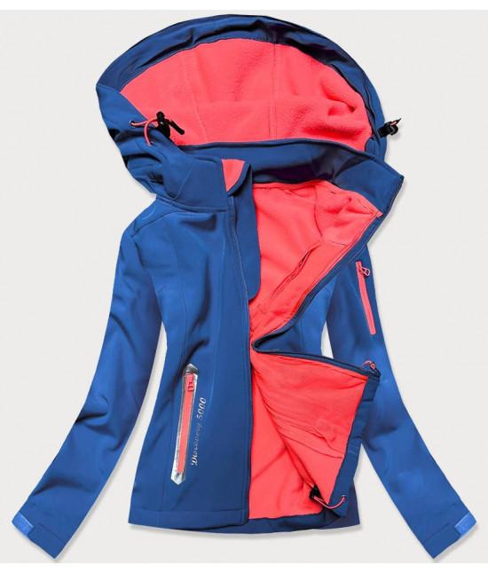 Dámska trekkingová bunda MODA029 modro-koralová