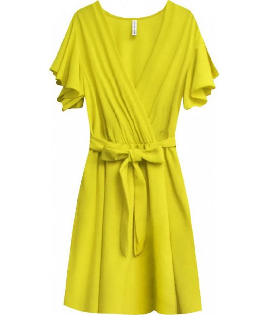 Dámske letné šaty MODA346 žlté veľkosť UNI