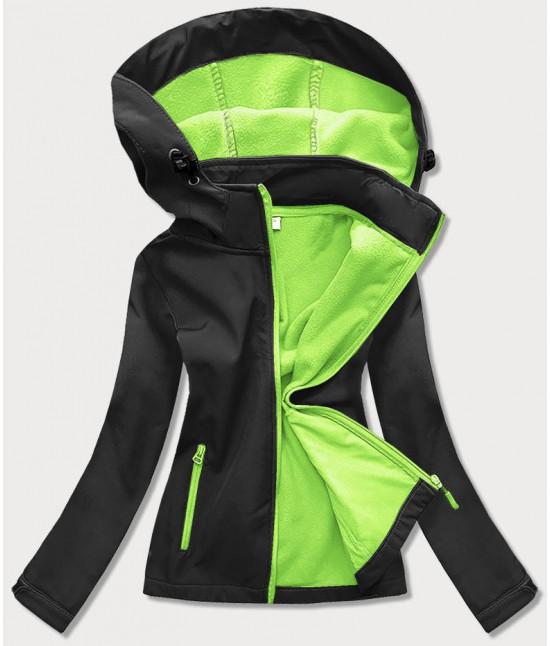 Dámska trekingová bunda  MODA018 čierno-zelená