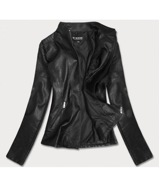 Dámska koženková bunda MODA0115 čierna 4XL