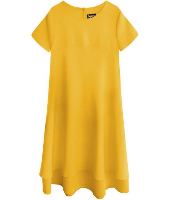 Dámske letné šaty MODA436 žlté XL
