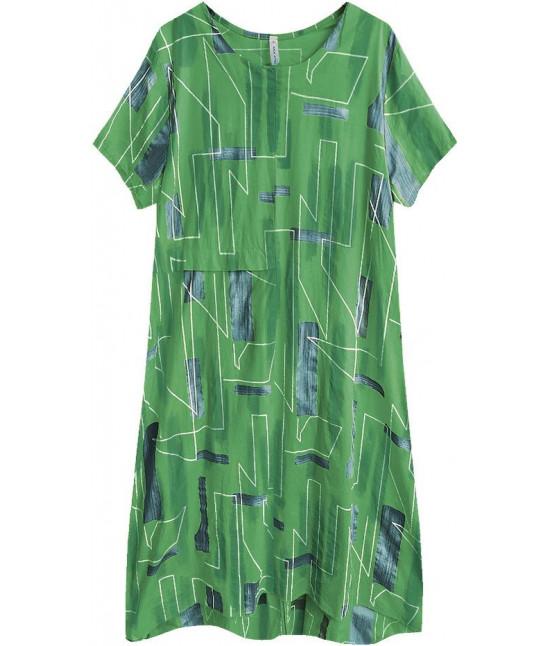 Dámske letné šaty v nadmernej veľkosti MODA340 zelené veľkosť UNI