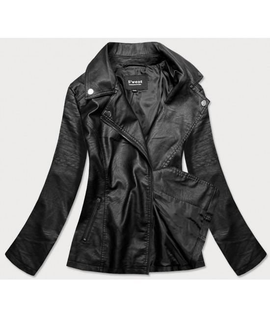Dámska koženková bunda MODA0120BIG čierna