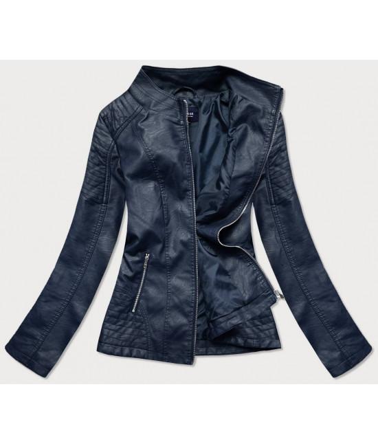 Dámska koženková bunda MODA0119BIG modrá