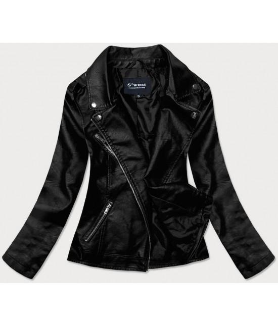 Dámska koženková bunda MODA0118 čierna