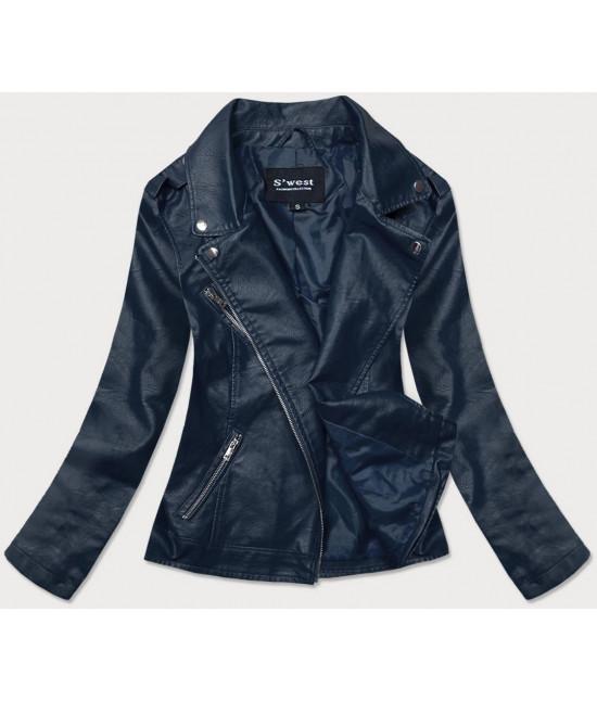 Dámska koženková bunda MODA0118 modrá