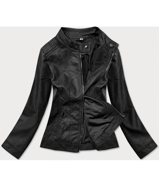Dámska koženková bunda MODA90-20 čierna