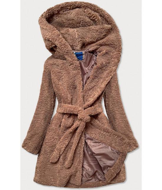 Dámsky kabát MODA229 hnedý
