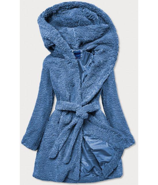 Dámsky kabát MODA229 modrý