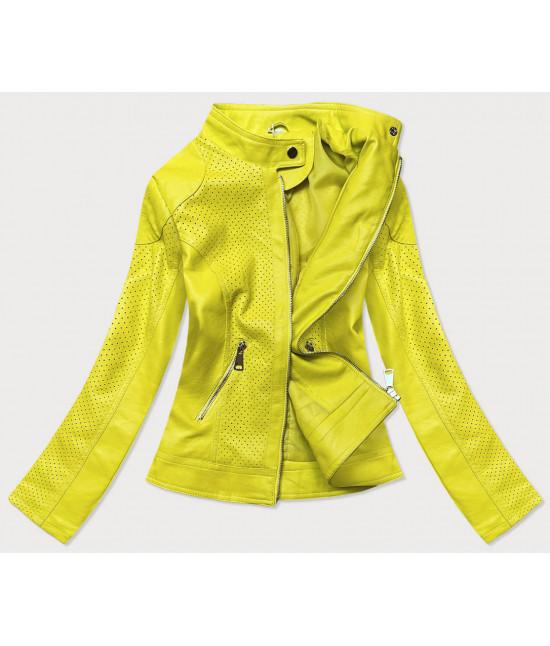 Dámska koženková bunda MODA85 žltá