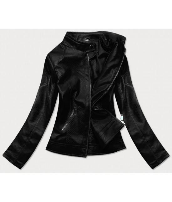 Dámska koženková bunda MODA85 čierna