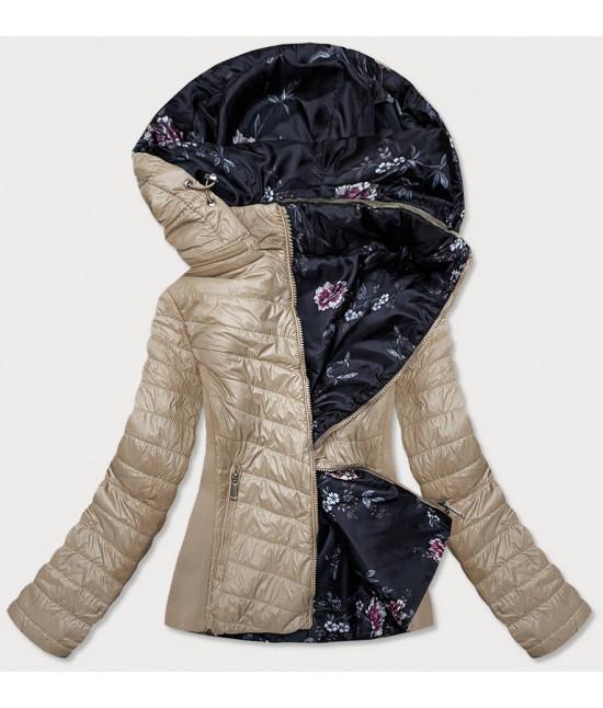 Dámska jesenná prešívaná obojstranná bunda MODA843 béžová
