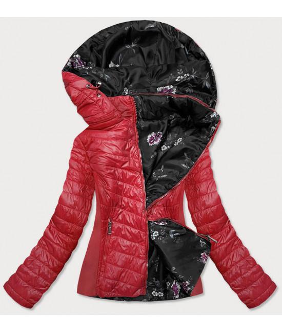 Dámska jesenná prešívaná obojstranná bunda MODA843 červená
