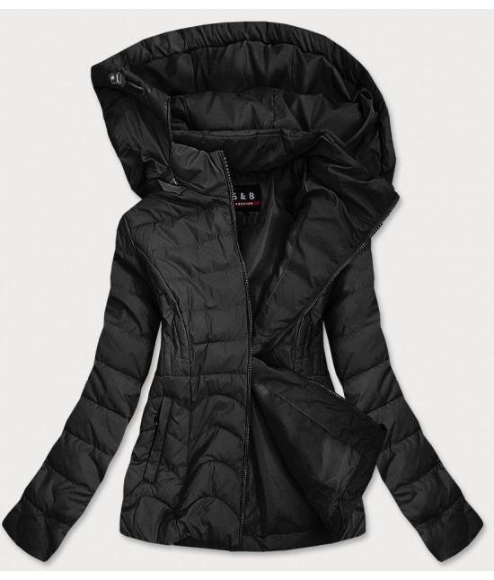 Dámska jarná bunda MODA939BIG čierna  veľkosť XXL