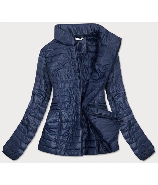 Prešívaná dámska jarná bunda MODA611 tmavomodrá veľkosť 6XL