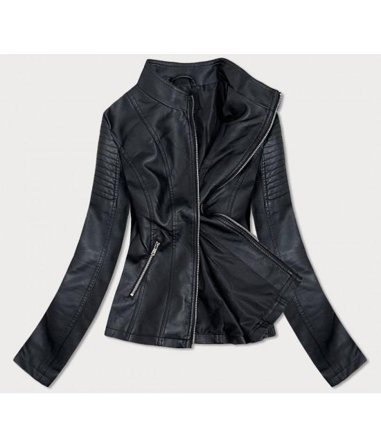 Dámska koženková bunda MODA111 čierna veľkosť L