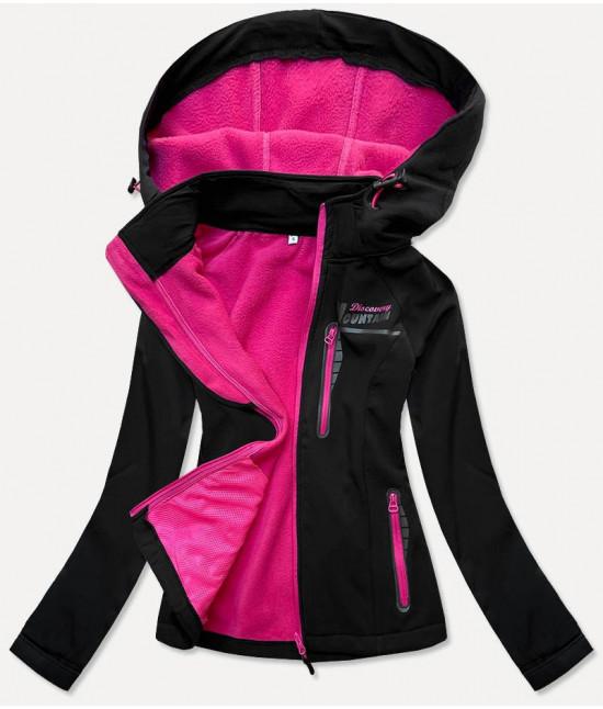 Dámska športová bunda typu softshell MODA027 čierna M