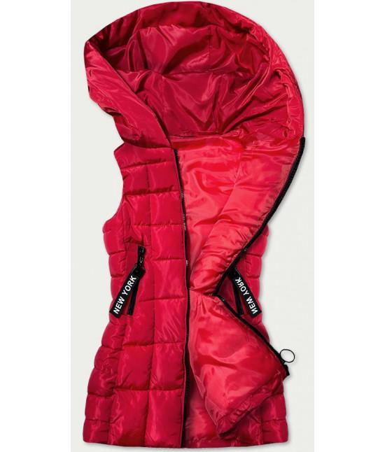 Dlhá dámska vesta MODA579 červená L
