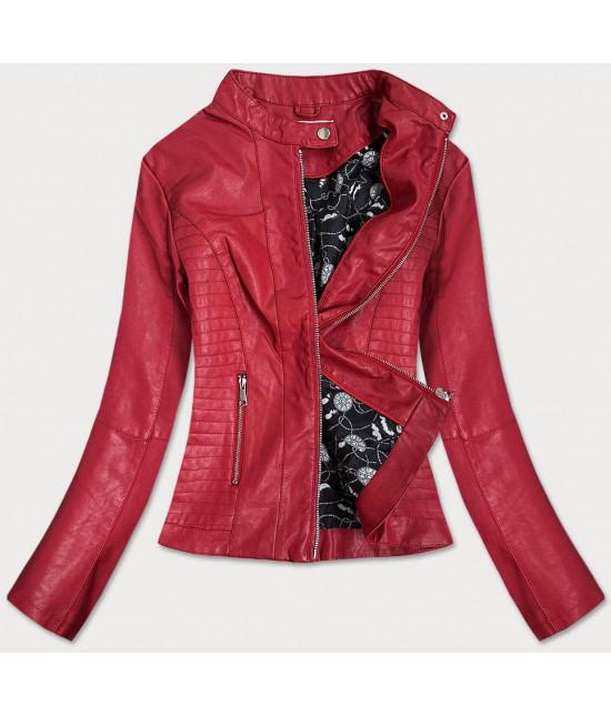 Dámska kožená bunda MODA202 červená L