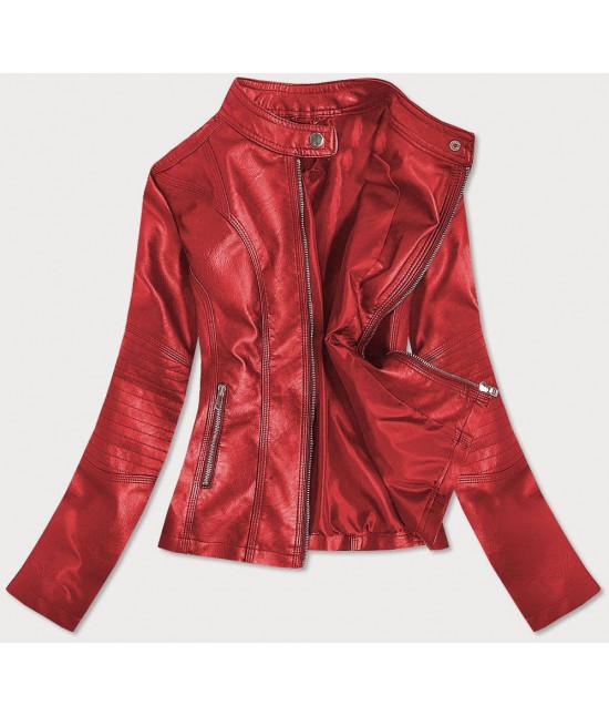 Dámska koženková bunda MODA0110 červená L