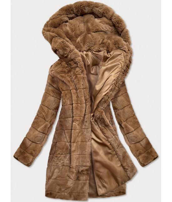 Dámska zimná bunda MODA746 hnedá