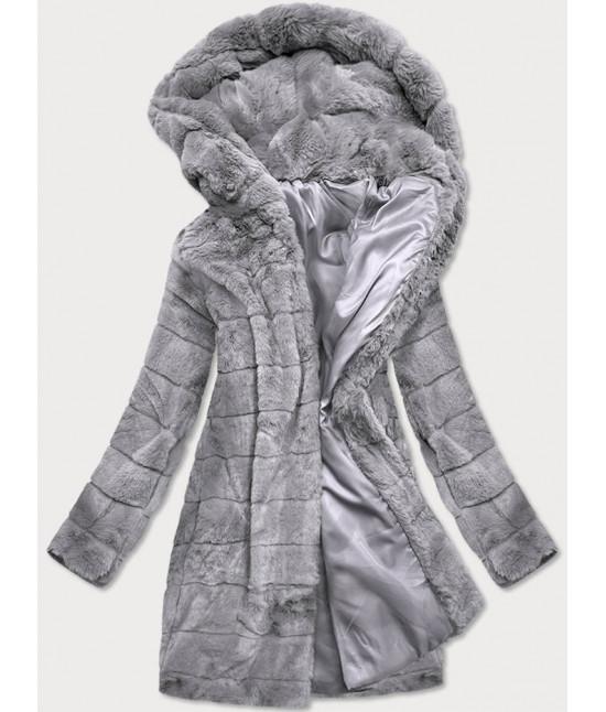Dámska zimná bunda MODA746 šedá