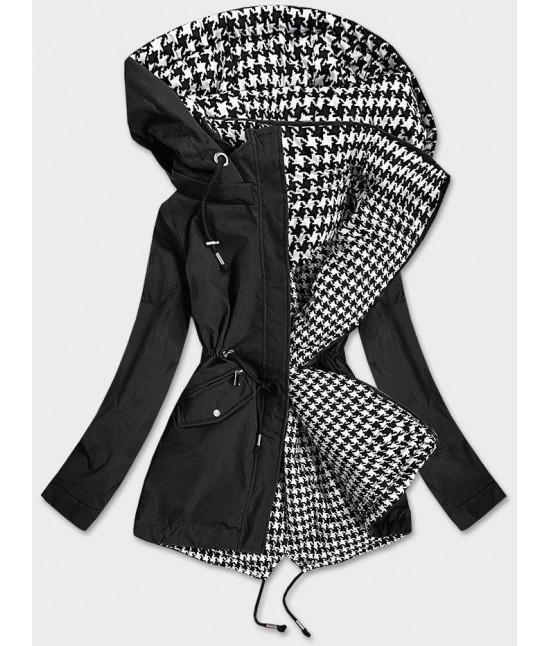 Obojstranná prechodná bunda MODA503XBIG čierno-biela veľkosť 3XL