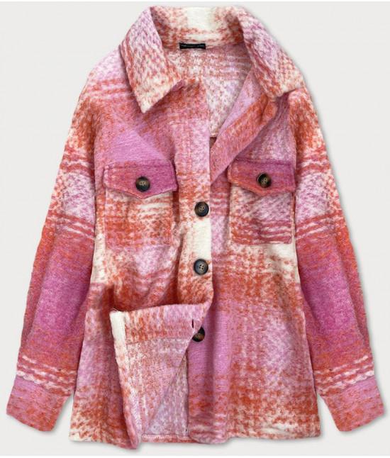Dámska košeľová bunda MODA925 ružová UNI