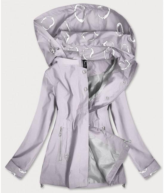 Dámska jarná bunda MODA707 šedá veľkosť 4XL