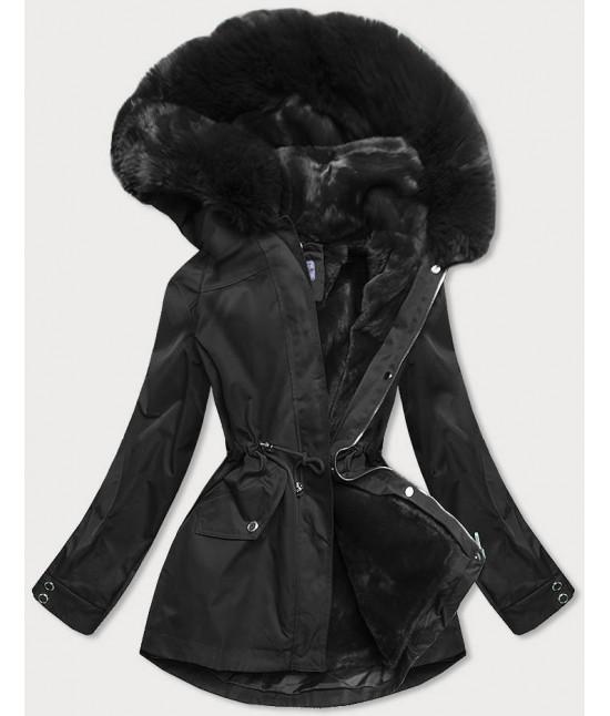 Dámska zimná bunda s odopínateľnou teplou podšívkou MODA2717 čierna
