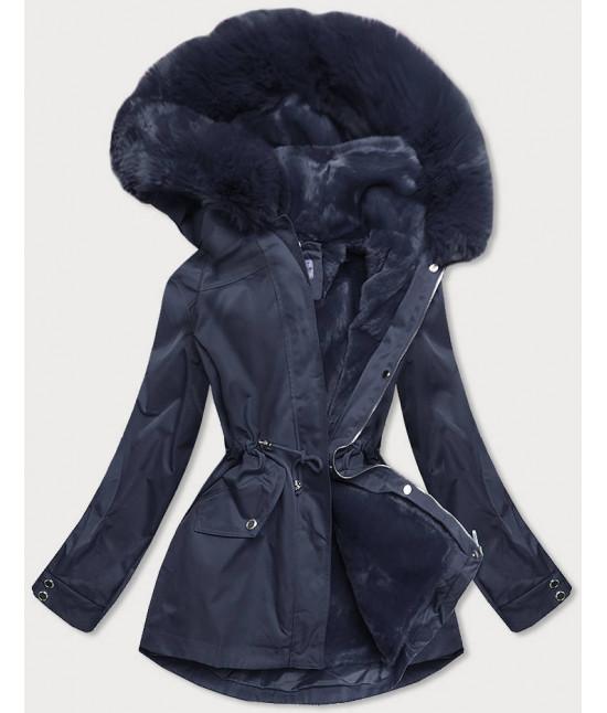 Dámska zimná bunda s odopínateľnou teplou podšívkou MODA2717 tmavomodrá